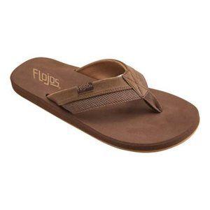 Flojos Men's Tan Brown Ryan Flip Flop
